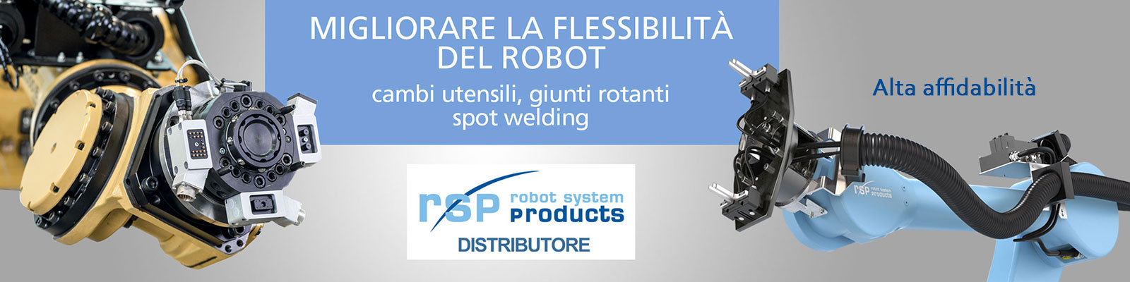 Omil Rsp robot system cambi utensili, giunti rotanti, spot welding